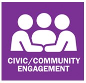 Civic community engagement service area